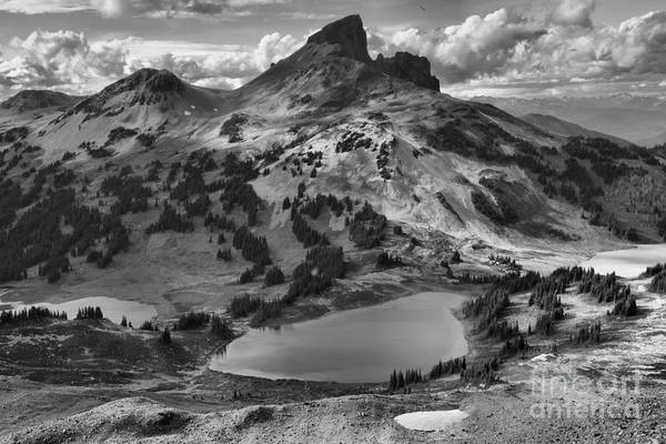 Photograph - Black Tusk Lake In Black In White by Adam Jewell