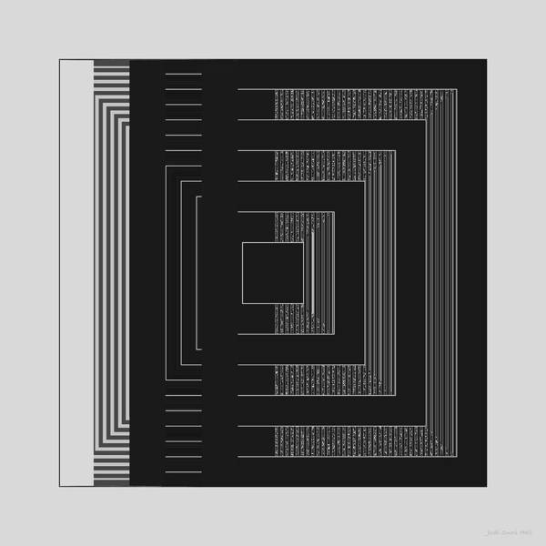 Digital Art - Black White Gray Square Geometric by Judi Suni Hall