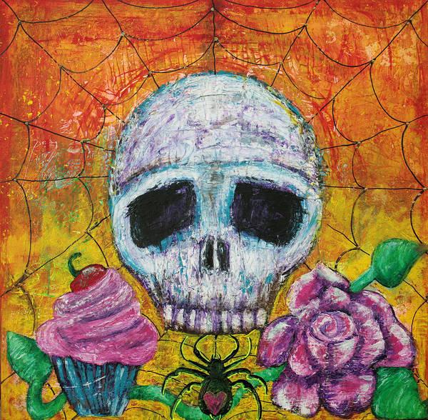 Wall Art - Painting - Black Widow by Laura Barbosa