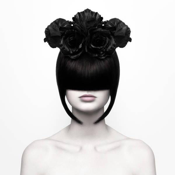 Hairstyle Photograph - Black Widow by Martina Nemcekova Ep