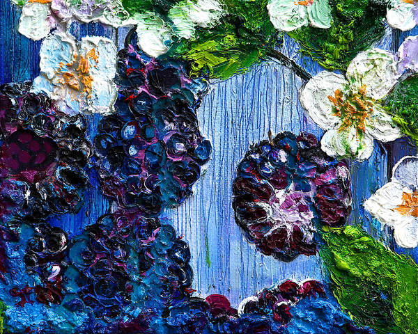 Protein Painting - Blackberry by Natalia Stahl