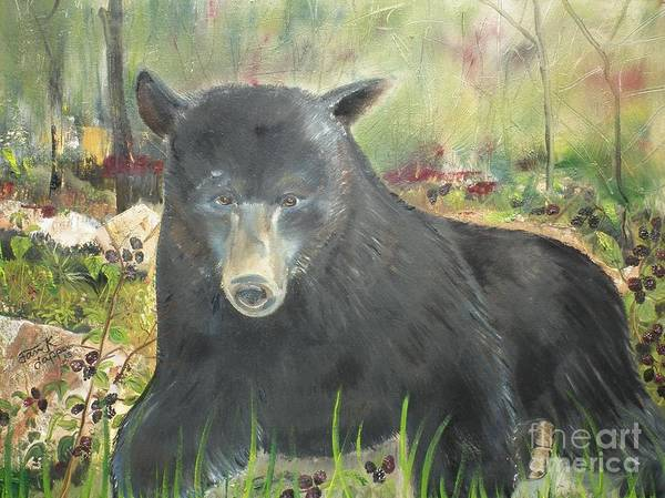 Painting - Blackberry Scruffy 2 by Jan Dappen