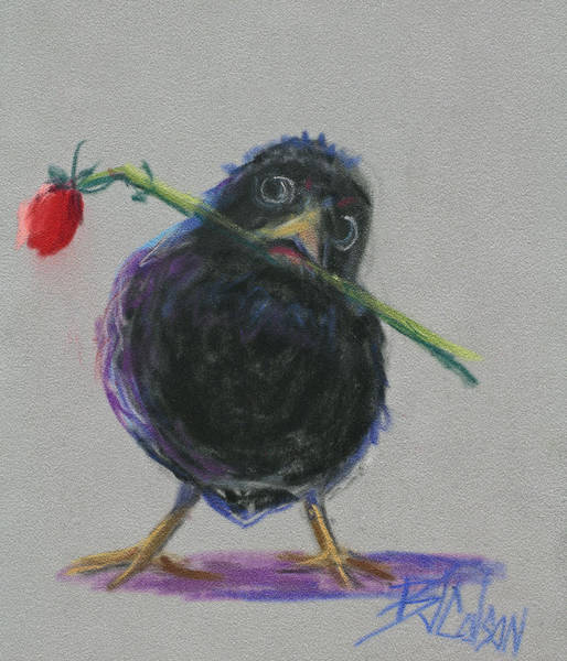 Blackbirds Painting - Blackbird Love by Billie Colson