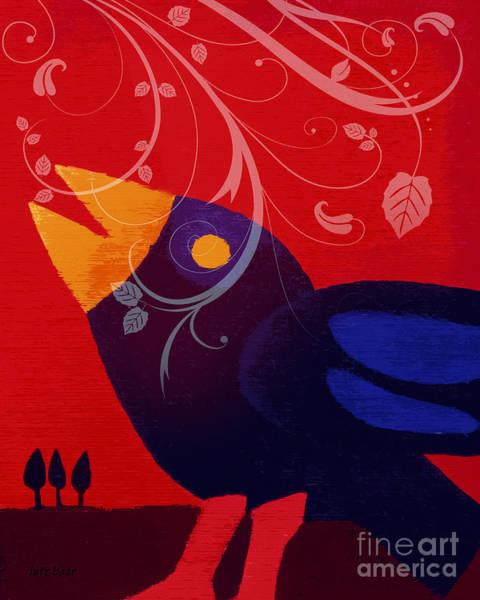 Blackbird Art Print by Lutz Baar