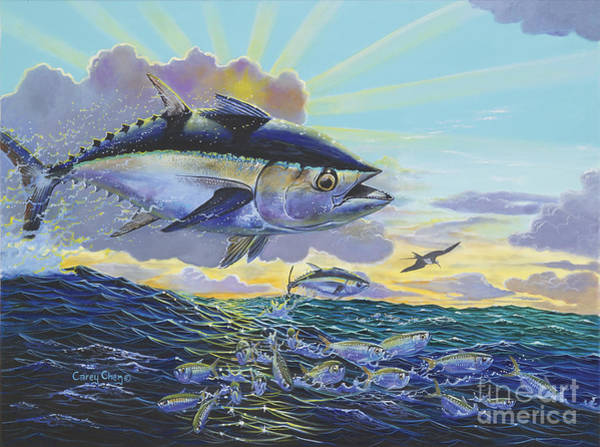 Wall Art - Painting - Blackfin Bust Off00116 by Carey Chen