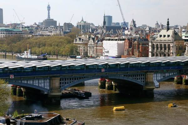 Solar Panels Photograph - Blackfriars Bridge by Victor De Schwanberg
