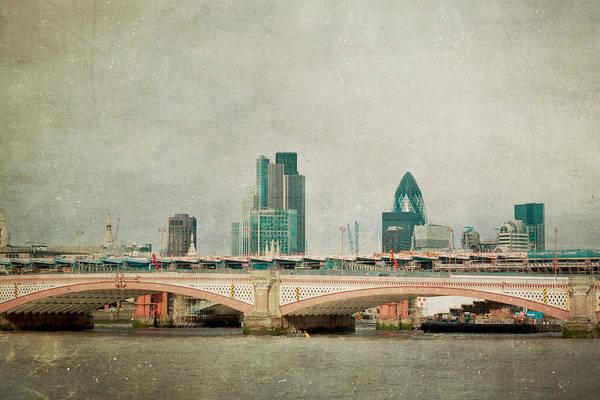 London Bridge Photograph - Blackfriars Bridge by Violet Gray