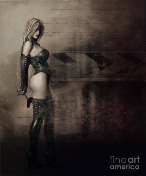 Black Woman Digital Art - Blackheart by Shanina Conway