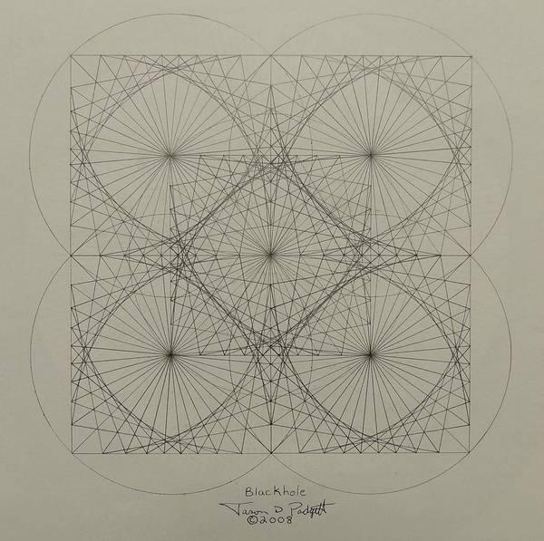 Drawing - Blackhole by Jason Padgett