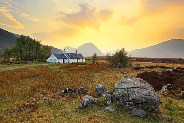 Photograph - Blackrock Cottage Sunset by Grant Glendinning