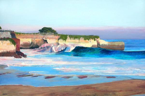 Oceanscape Painting - Blacks Beach - Santa Cruz by Peter Forbes