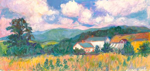 Painting - Blacksburg Clouds by Kendall Kessler