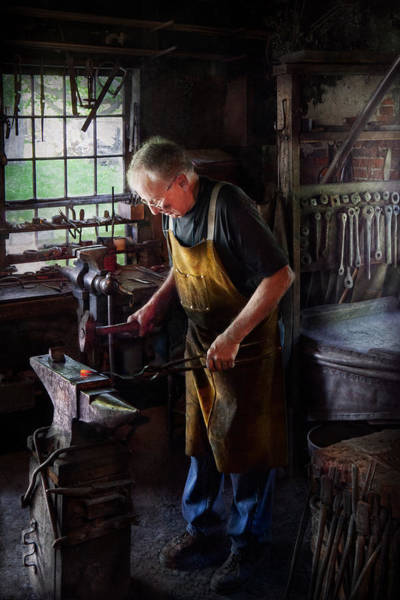 Blacksmith Photograph - Blacksmith - Starting With A Bang  by Mike Savad