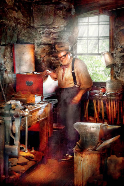 Digital Art - Blacksmith - The Smithy  by Mike Savad