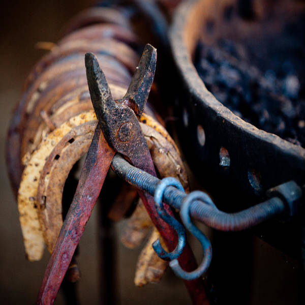 Farrier Photograph - Blacksmith Tools by Art Block Collections
