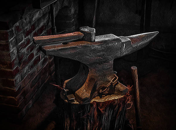 Filter Forge Photograph - Blacksmith's Anvil by Jim Painter