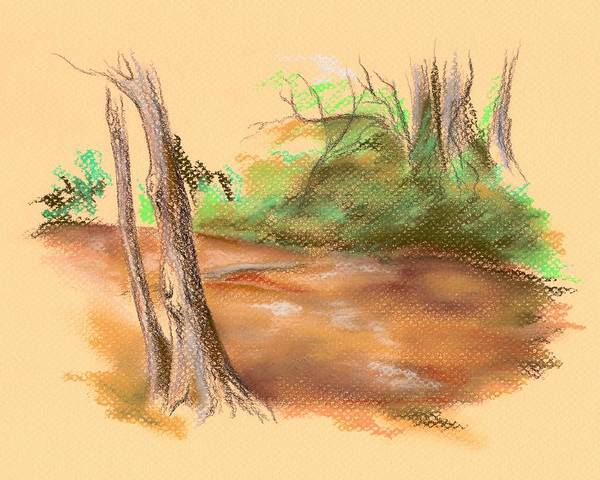 Pastel - Blackwater Creek by MM Anderson