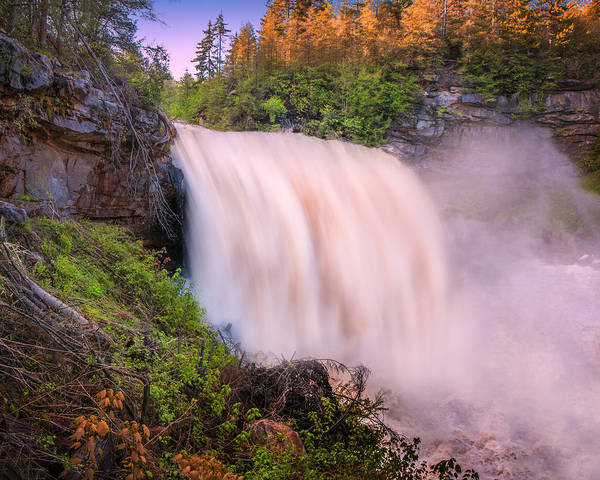 Photograph - Blackwater Falls Spring Thaw by Mary Almond