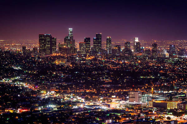 Viewpoint Photograph - Los Angeles Skyline by Alexis Birkill