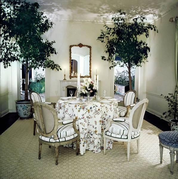 Wall Art - Photograph - Blair's Dining Room by Horst P. Horst