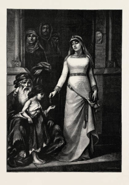 Castilla Drawing - Blanche Of Castille,  Blanca De Castilla In Spanish 4 March by French School