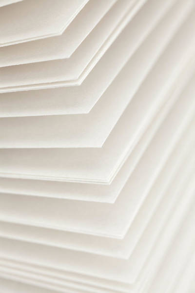 Out Of Focus Wall Art - Photograph - Blank Pages Of A Diary Fanned Out, Full by Epoxydude