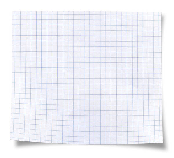 Blank Square Rules Lined Paper Art Print by Tolga TEZCAN