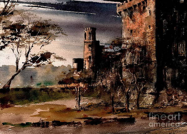 Painting - Cork   Blarney Castle And  Kiss The Stone  by Val Byrne