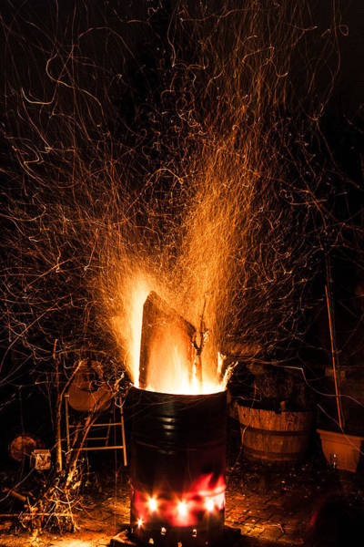 Kindle Wall Art - Photograph - Blazing Bonfire by Semmick Photo