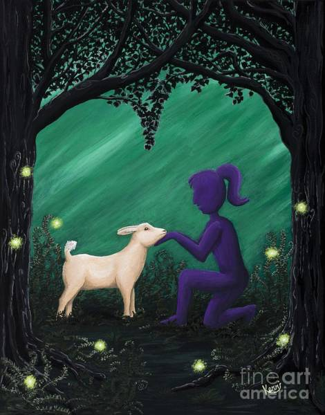 Lightening Painting - Bleating Heart by Kerri Ertman