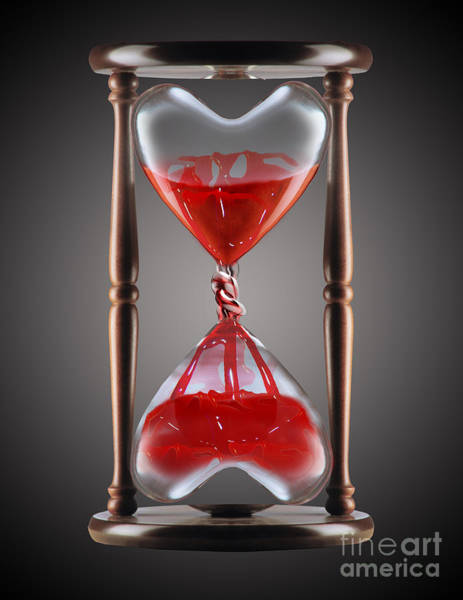 Photograph - Bleeding Heart Hourglass by Mike Agliolo