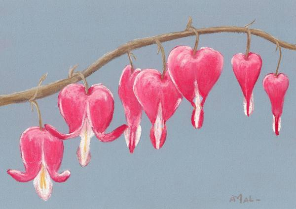 Painting - Bleeding Hearts by Anastasiya Malakhova