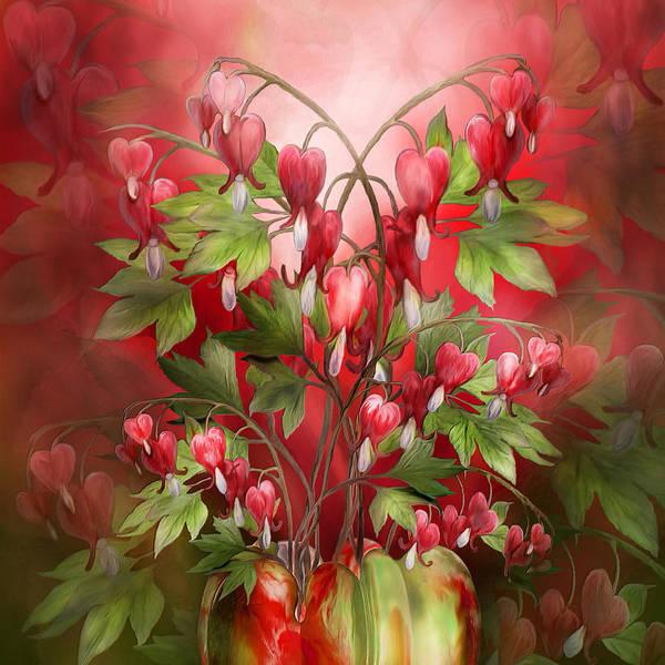 Mixed Media - Bleeding Hearts Bouquet by Carol Cavalaris