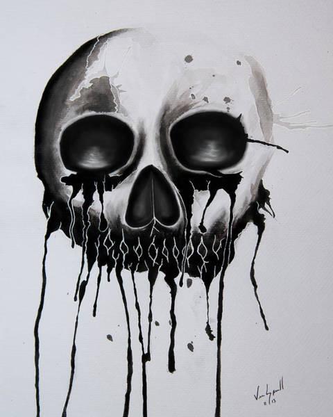 Bleeding Wall Art - Photograph - Bleeding Skull by Michael Ver Sprill