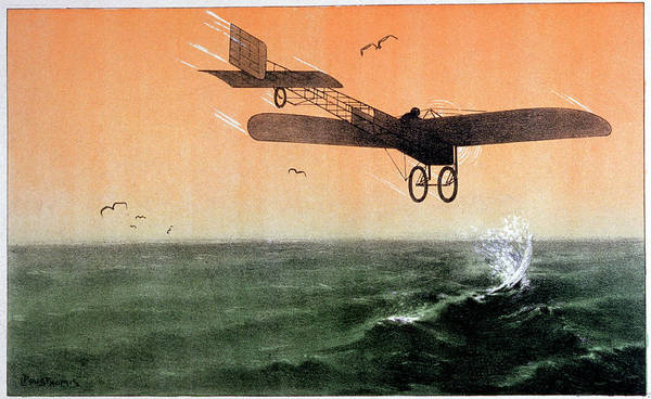 Wall Art - Photograph - Bleriot Crossing The Channel by Cci Archives/science Photo Library