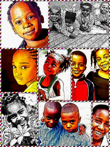 Digital Art - Bless The Little Children by Karen Buford