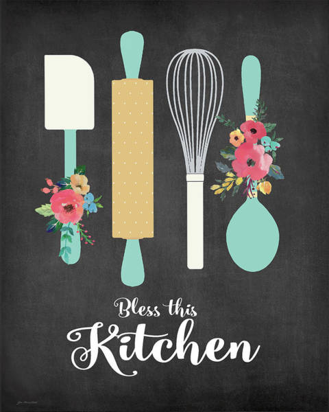 Kitchen Painting - Bless This Kitchen by Jo Moulton