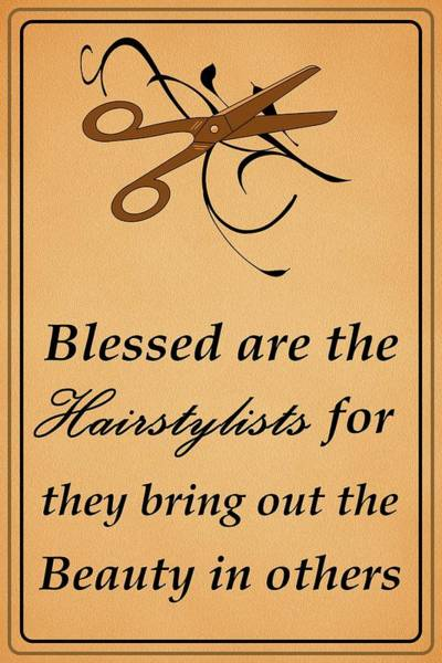 Dehner Digital Art - Blessed Are The Hairstylists  by Movie Poster Prints