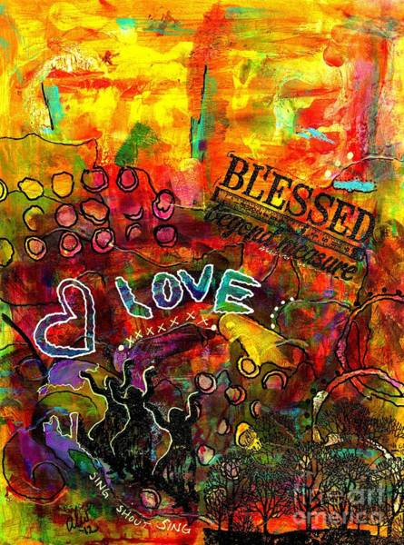 Wall Art - Painting - Blessed Beyond Measure by Angela L Walker