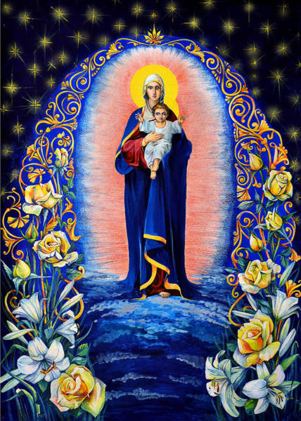 Russian Orthodox Church Painting - Blessed Heaven by Natalia Lvova