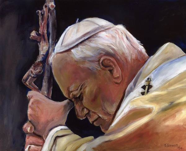 Poland Painting - Blessed Pope John Paul II  Image 2 by Sheila Diemert