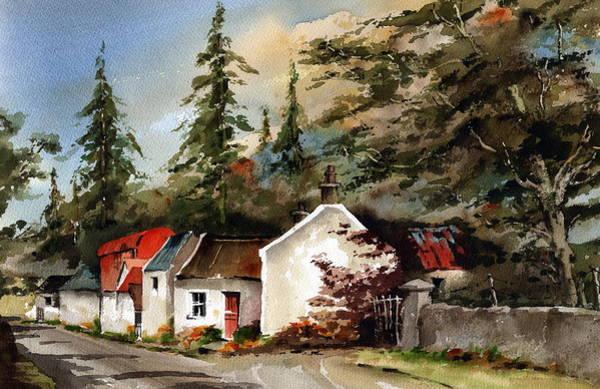 Mixed Media - Blessington Farmhouse by Val Byrne