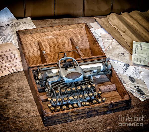 Typewriters Wall Art - Photograph - Blickensderfer Typewriter by Adrian Evans