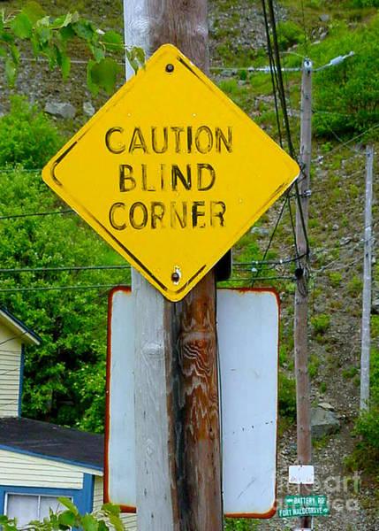 Blind Corner Art Print