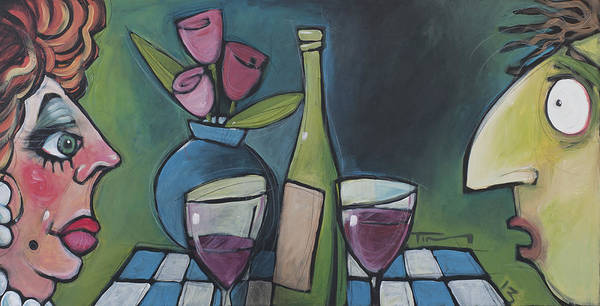 Wall Art - Painting - Blind Date With Wine by Tim Nyberg