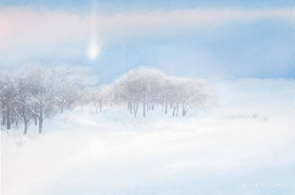 Painting - Blizzard Coming by Lynn Hansen