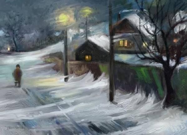 Blizzard Night Art Print by Tancau Emanuel