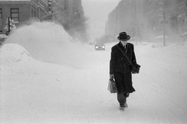Blizzard On Park Avenue Art Print