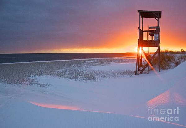 Photograph - Blizzard Sunset by Amazing Jules