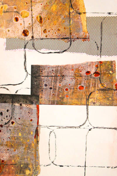 Impression Mixed Media - Blocks Abstract Mixed Media Collage by Nancy Merkle